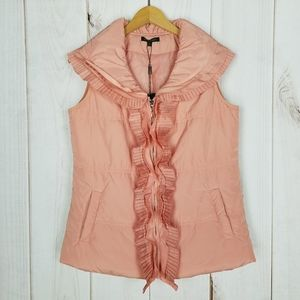 For Cynthia Pink Peach Puffer Vest